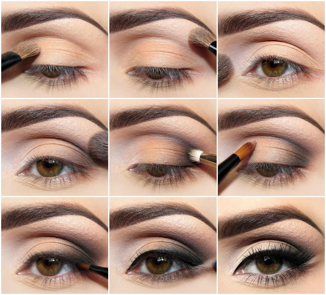 как накрасить маленькие глаза тенями
